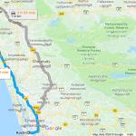 Cochin To Guruvayur Temple Distance