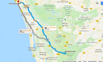 Sabarimala To Guruvayur