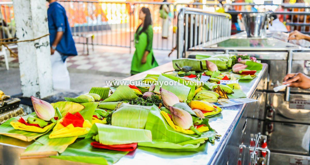 Offering 'Neyvilakku' in Guruvayur
