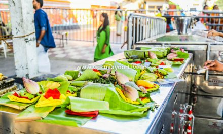 Offering 'Neyvilakku' in Guruvayur